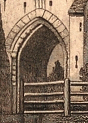St Martin's Priory, near Dover, Kent, c.1830 engraving (detail)