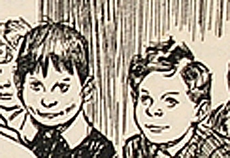H M Brock Punch cartoon, School (detail)