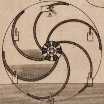 Hydraulics, 1830 engraving (detail)