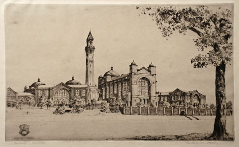 Wilfred C Applebey etching Birmingham University