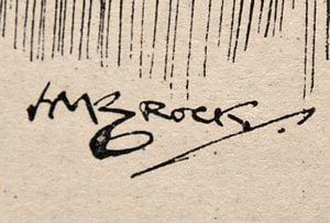 H M Brock Signature Cartoonist