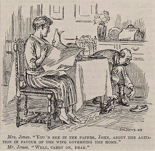 J H Dowd Punch Magazine Cartoon