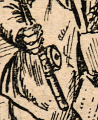 Punch cartoon by J B Yeats, fishermen (detail)